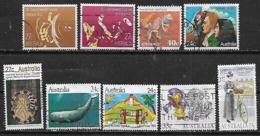 1982-6 Australia Fauna Ballena Lagartija-dibujo Infantil-deporte Juegos Commonweath-razas 9v. - 1980-89 Elizabeth II
