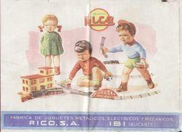 Catalogue RICO S.A. IBI Alicante 1940s Juguetes Metalicos, Electricos- En Espagnol - Boeken En Tijdschriften