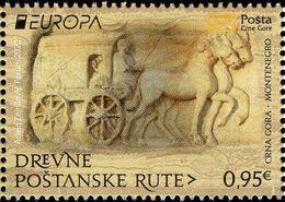 Montenegro - 2020 - Europa CEPT - Ancient Postal Routes - Mint Stamp - Montenegro