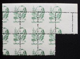 Uruguay 1982 Mnh - Yvert 1111 Variety Varieté Variedad - Error Dentado Desplazado-  Gral. Artigas Hero - Uruguay
