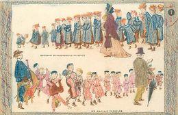Themes Div-ref EE929 -illustrateurs -illustrateur- Carte A Colorier ; Coloriée- Pensionnant De Mademoiselle Prudence - School