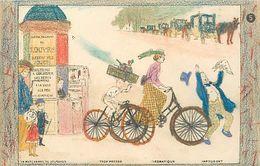 Themes Div-ref EE927 -illustrateurs -illustrateur- Carte A Colorier ; Coloriée- Enfants -presse -marchande De Journaux - Trade