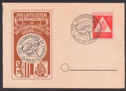Dresden Maxkarte MC Tag Der Briefmarke 24.10.48 SoSt. DRESDEN Mit Lupe Und Sachsenmarke, SBZ 228 - Zone Soviétique