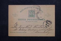INDE PORTUGAISE - Entier Postal De Panjim Pour Bombay En 1894 - L 62644 - Inde Portugaise