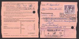 """Peres PSSt. 020 Borna Postanweisung 1.7.81 Mit 60 Pf. Dresden Zwinger Kronentor DDR 1919, St. """"Vom Empfänger Eingesandt"""" - Covers"""