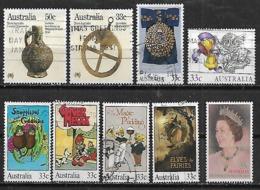 1985 Australia Arte-navidad-cuentos Infantiles-reina 9v. - 1980-89 Elizabeth II