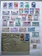 ESPAGNE / MARRUECOS / TANGER / ..... // Lot: 1 Cover 1942 CENSURA MADRID > SWITZERLAND + 30 Stamps (*+used) - Spanisch-Marokko