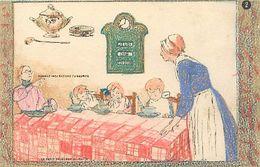 Themes Div-ref EE924 -illustrateurs -illustrateur- Carte A Colorier ; Coloriée- Enfants - Le Petit Dejeuner Du Matin - - Unclassified
