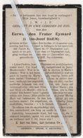 EERW.FRATER EYMARD /FRANS DAEM ° SINT-LIEVENS-ESSCHE1909 +1927 / ONTVING HET KLOOSTERKLEED TE EDINGEN/ KAPUCIJN - Images Religieuses