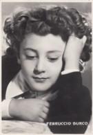 Ferruccio Burca Italian Child Prodigy Orchestra Conductor, C1940s Vintage Real Photo Postcard - Music And Musicians