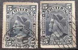COLUMBUS-5 C-T II-VARIATION - ERROR -CHILE - 1900 - Chili