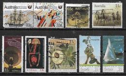1986 Australia Fauna Raya Caballos-copa America-barco 9v. - 1980-89 Elizabeth II