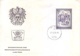 Austria 1975 - Vienna, Paesaggio. Alto Valore Su FDC - 1945-.... 2. Republik