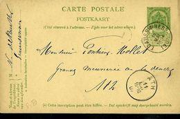 Entier . Obl. ECAUSSINES 11/05/1907 Pour ATH - Postmark Collection