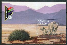 Namibia Mi# Block 45 Postfrisch/MNH - Fauna Rhino - Namibia (1990- ...)