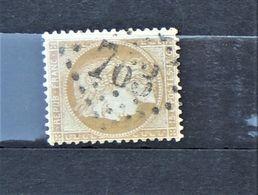 05 - 20 // France N° 59 - Ceres 15 C Bistre Oblitération GC 763 Castelnaudary - Aude - 1871-1875 Cérès