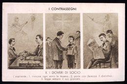 I CONTRASSEGNI - REGOLE PER ASPIRANTI GIOVANI CATTOLICI -  VIAGGIATA NEL 1941 DA ALES (ORISTANO) A CAGLIARI - Zonder Classificatie