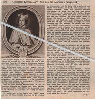""".GEERAARD KNIJFF 44e ABT VAN ST.MICHIELS 1642 - 1687/ ZANDVLIET/BEERSSE-EN-VOSSELAAR/ BROUWERIJ """"DE SWAEN""""ST.JORIS - Ohne Zuordnung"""