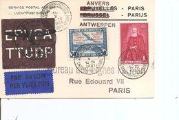 Belgique - Emissions Privées ( PR 31 Sur Carte De Anvers - Paris De 1931 à Voir) - Belgique