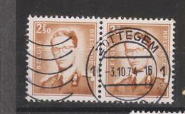COB 1028 En Paire Oblitération Centrale ZOTTEGEM - 1953-1972 Lunettes