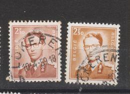 COB 1028 Oblitération Centrale LOKEREN - 1953-1972 Lunettes