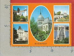 CARTOLINA VG UNGHERIA - BUDAPEST - Vedutine Multivue - 10 X 15 - 1983 - Hungary