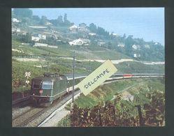 Train Intercity Dans Le Lavaux Sur L'itinéraire Saint-Gall -Genève  Reproduction - SG St. Gallen