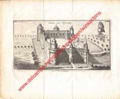 Gravure Kasteel Château Van Vilvoorden Vilvoorde Arx Vilvordiana - Gravure Uit 1770 - Formaat 26x22cm - Estampes & Gravures