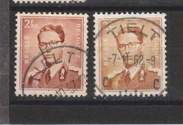 COB 1028 Oblitération Centrale TIELT - 1953-1972 Lunettes