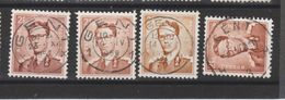 COB 1028 Oblitération Centrale GENT - 1953-1972 Lunettes