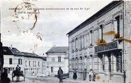55  CORMICY LES GALERIES CORMICIENNES  ET LA RUE ST CYR  (CPA TACHEE) - Commercy