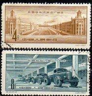 Automobil Technik 1957 China 335/6 O 2€ Auto-Werk LKW-Fabrik Changchun Metallurgie-Industrie Working Set Chine Cina - Usati
