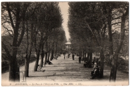 CPA 92 - ASNIERES (Hauts De Seine) - 9. Le Parc De L'Hôtel De Ville - Une Allée - Asnieres Sur Seine