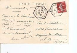 France ( CP De 1909 De Betheny-Aviation Vers La Belgique à Voir) - Airmail