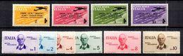 Italie Poste Aérienne YT N° 52/55 Et N° 78/83 Neufs ** MNH. TB. A Saisir! - Airmail