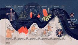 Australia - 2020 - Navigating History - Endeavour Voyage - Mint Souvenir Sheet - 2010-... Elizabeth II