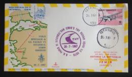 Turkey, Circulated FDC  « Pope John Paul II, Visit To Turkey», « Special Flight  Istanbul - Izmir », 1967 - 1921-... République