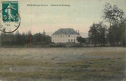 - Loire -ref-B172- Riorges Près Roanne - Chateau De Neubourg - Chateaux -carte Colorisée Bon Etat - - Riorges