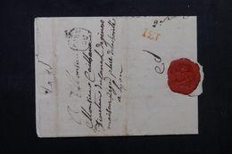 """FRANCE - Cachet """" Port Du """" Sur Lettre De Lyon En 1780 Pour Lyon , Marques De La Petite Poste De Lyon - L 62656 - 1701-1800: Precursores XVIII"""