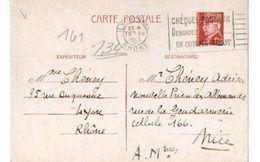 B21 19 12 1943  Entier Pétain Pour Interné A La Nouvelle Prison Des Allemands à NICE  Pas Du Tout Courant - Marcophilie (Lettres)