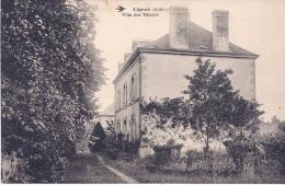 CPA 36 INDRE LIGNAC VILLA DES TILLEULS  VUE PAS COURANTE 1923 DOS VERT - Francia