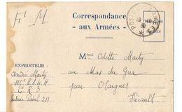 B21 10 1939 Carte En FM  SP 211 - Marcophilie (Lettres)
