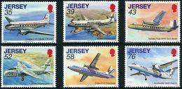Jersey 2009 DC-3 (DC3), Viscount, HP Herald, Bristol Freighter, Friendship, De Havilland Dash-7 (YT 1453, Mi 1387) - Airplanes