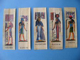 Lot 5 Marque Pages Papyrus NEFERTARI THOTH HATHOR ANUBIS KHNUM - Bookmarks
