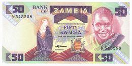 LOT127 - Banknote Zambia 50 Fifty Kwacha Bank 1986/1988 - UNC - Zambia