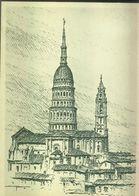 Italie Novara Coupole Campanile S.Gaudenzio (eau Forte De Giuseppe Dell'Acqua) Visite Au Rotary Club - Novara