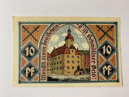 Allemagne Notgeld Schmolln 10 Pfennig - Collections