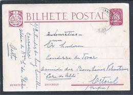 Postal Stationery Caravela Obliterado Na Carvoeira, Aldeia De Nossa Senhora Da Glória, Torres Vedras. - 1910-... Republic