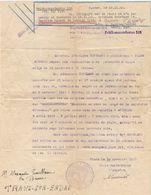 B21 1943 Document De Nantes Kommandantur 318  Convocation Pour Non Présentation A Un Controle - Marcophilie (Lettres)