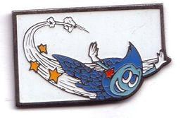 X159 Pin's GDF Gaz De France Logo MASCOTTE Marqué Gaz De France Au Dos Achat Immédiat - EDF GDF